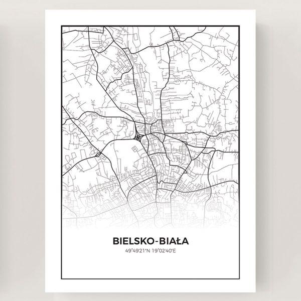 Plakat Mapa Bielsko-Biała