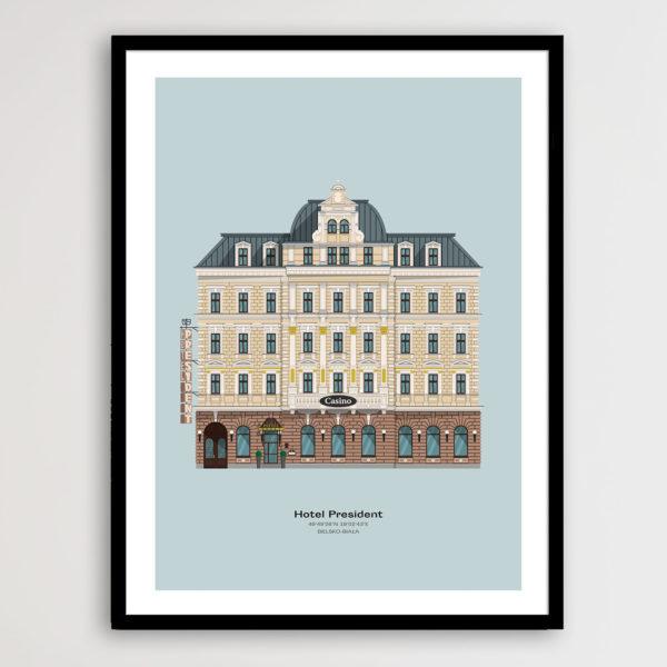 Plakat Hotel Prezydent Minimal Design