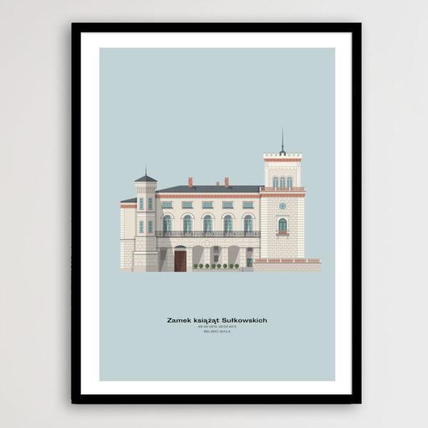 Plakat Zamek Sułkowskich Minimal Design